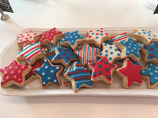 Little Flour Fourth of July Cookies