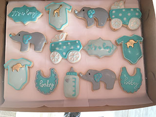 Little Flour Baby Shower Cookies